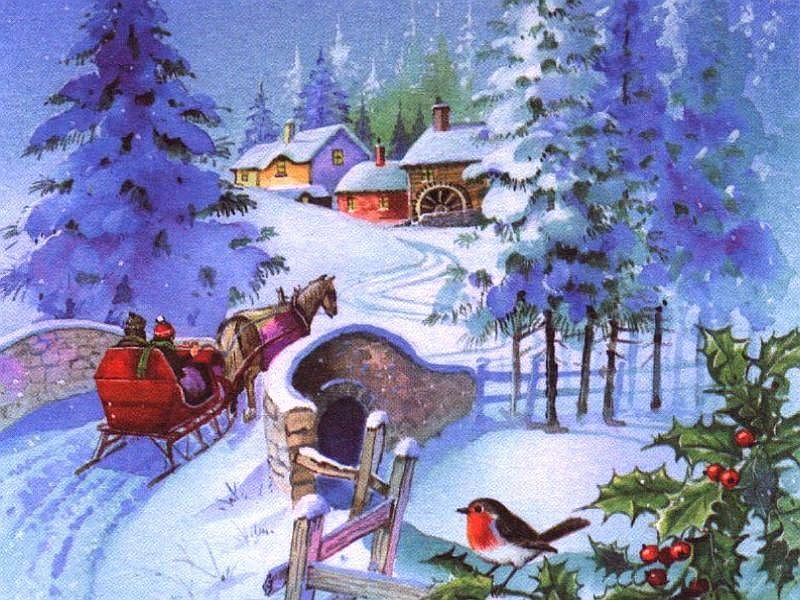 Santa Sleigh Ride wallpapers
