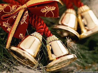 christmas ornament bells wallpaper