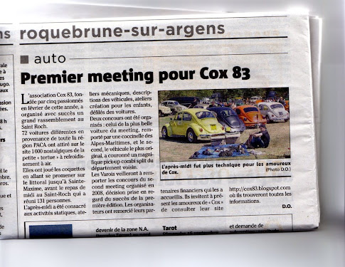 ARTICLE VAR-MATIN 1° MEETING 02/09/07