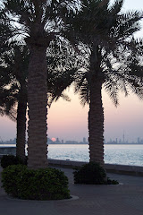 Sunset on Kuwait City