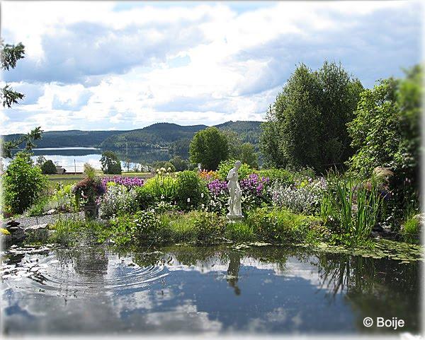 Stora dammen med utsikt över sjön