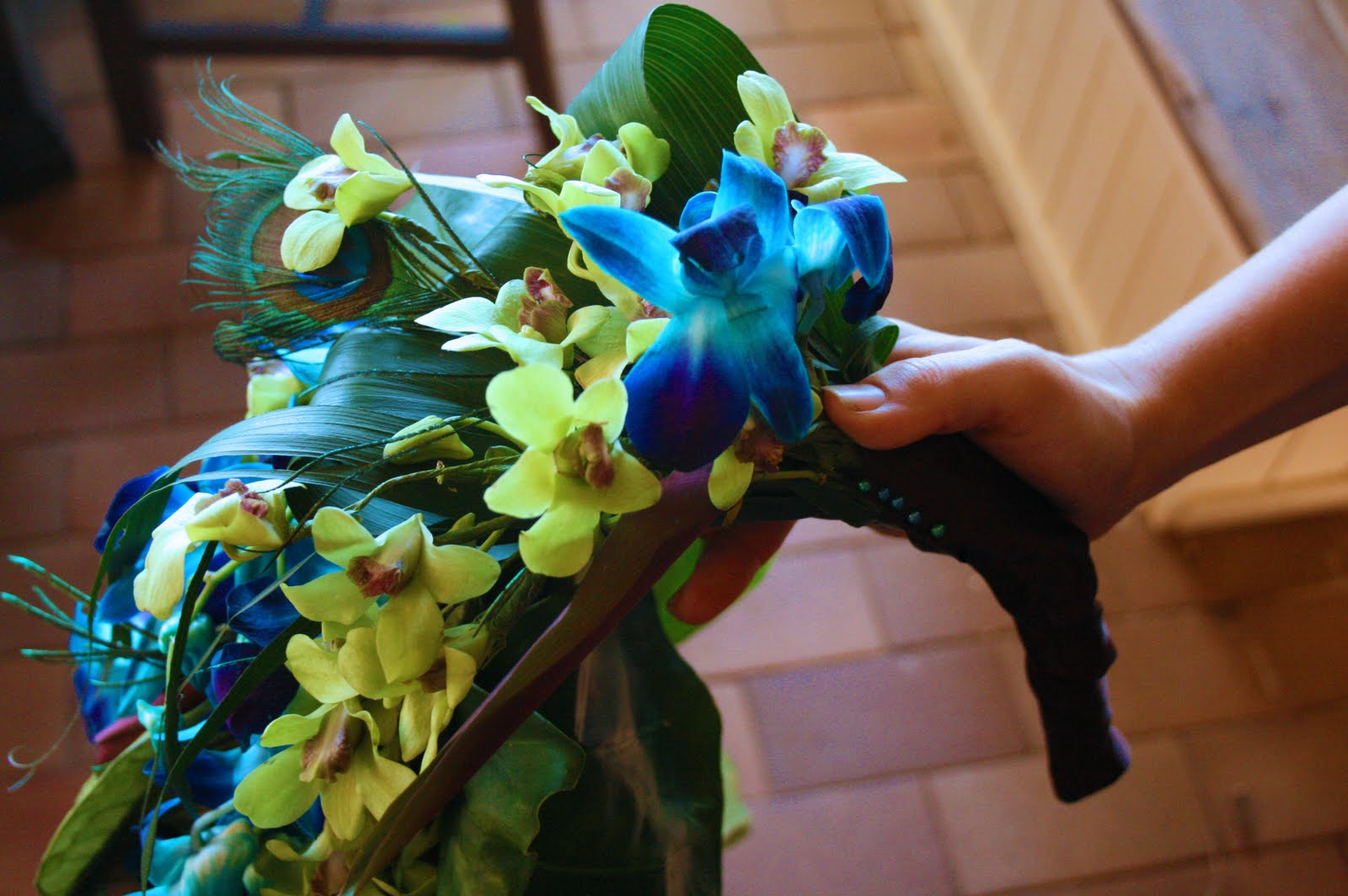 Peacock Courtship: wedding bouquet on a budget ~ spider flower - photo#31