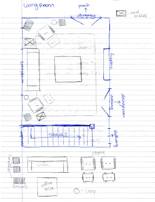Room layout progress scale drawings making macy for How to draw a room to scale