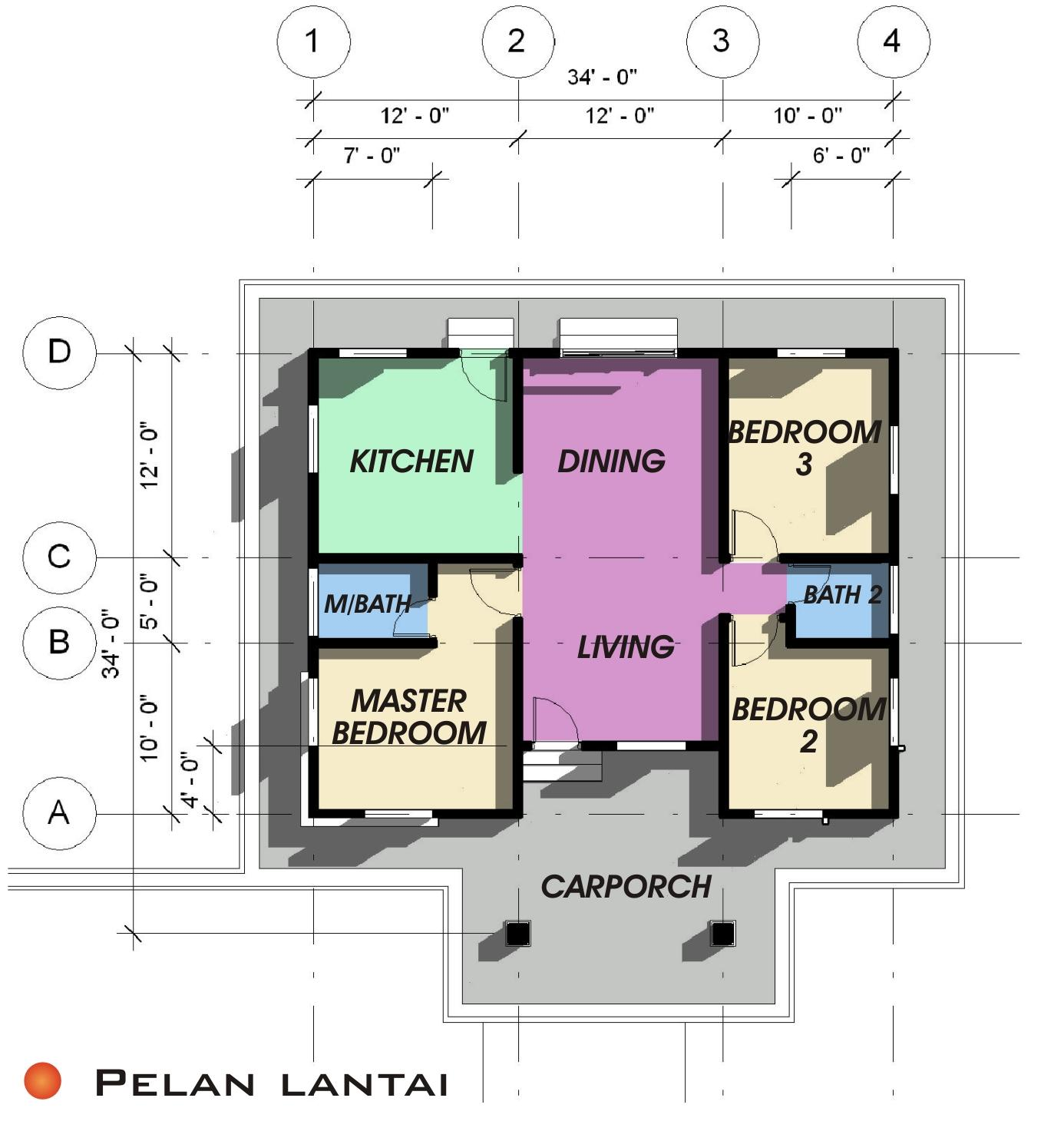 Pelan Rumah Type 1   Share The Knownledge