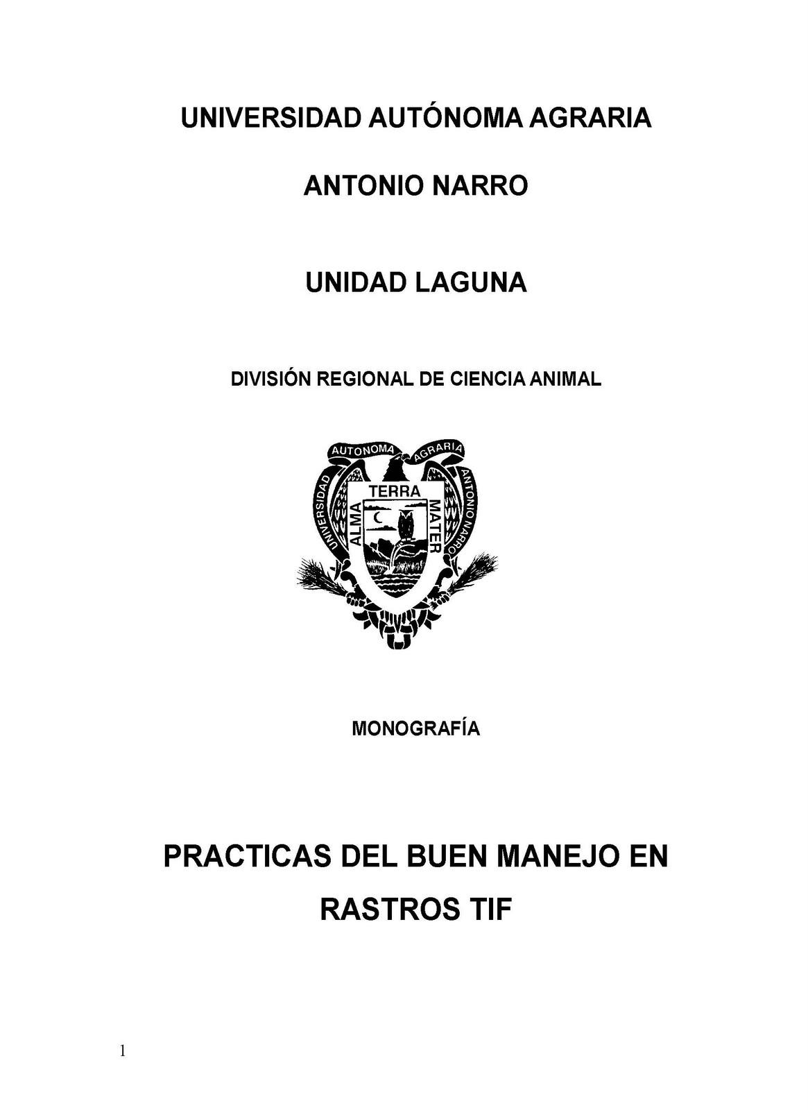 Manual De Buenas Practicas De Manufactura En El Beneficio | 2016 Car ...