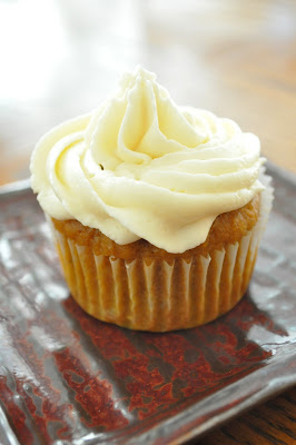 Freeing My Martha: Pumpkin Cupcakes with Maple-Cream Cheese Frosting