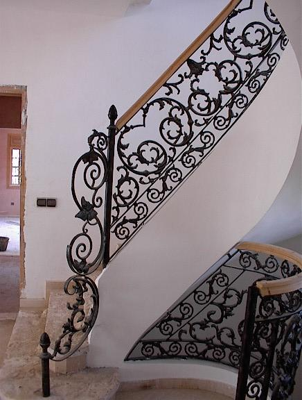 rampe d 39 escalier mod l escargo. Black Bedroom Furniture Sets. Home Design Ideas