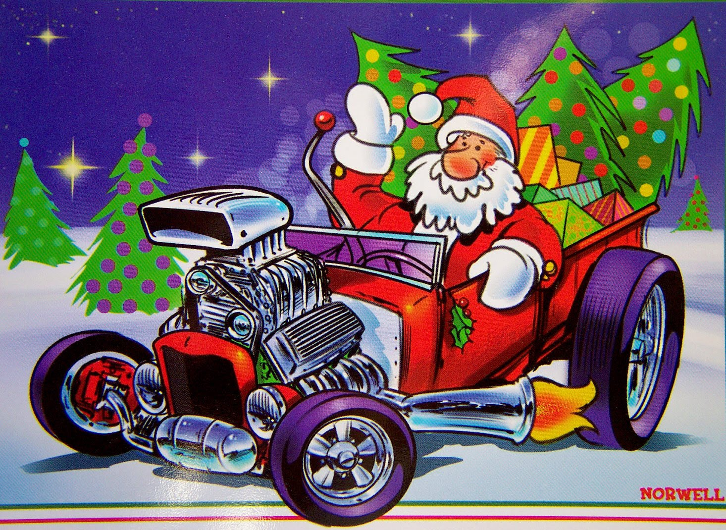 Here Is Another Great Norwell Piece For Christmas As Well A Model T Cover From An Old Card By Artist Ralph Hulett