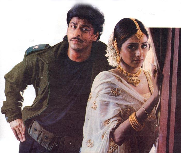 Image result for Sridevi and Shah RUkh Khan