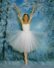 Jakelle as a snowflake in the Nutcracker