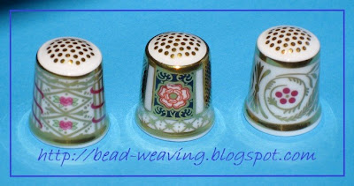 Royal Crown Derby Thimble, Royal Doulton Minton Thimble