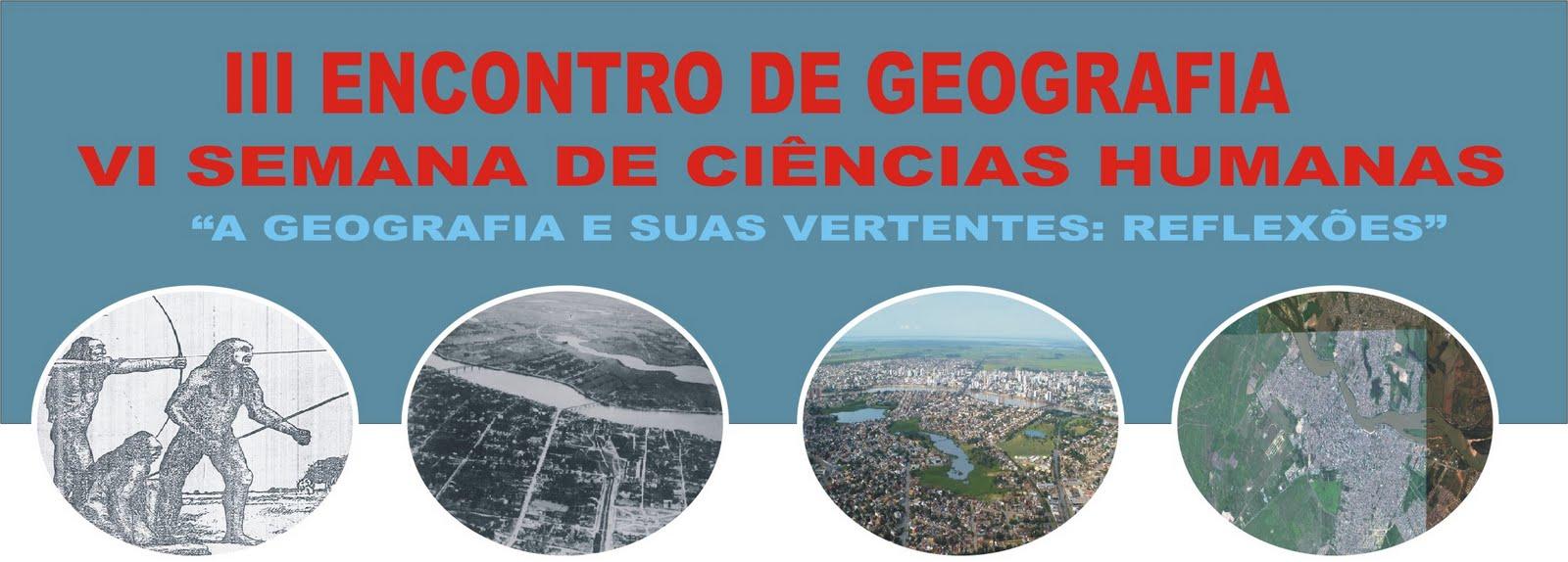 III ENCONTRO DE GEOGRAFIA