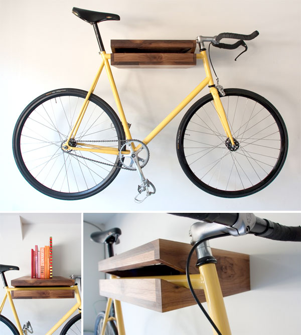 Bike shelf neon bike shelf is a fantastic way to stash Bicycle bookshelf