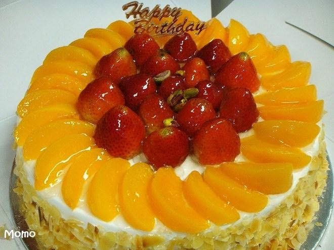 Strawberry Peach Cake