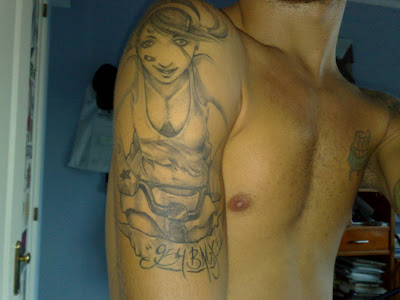 Mi último BMX tattoo. Este es mi último tattoo obsequio de Mario (Lebron