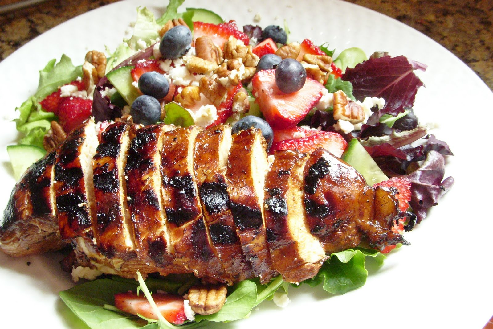 Hope Studios: Strawberry Salad with Balsamic Glazed Chicken
