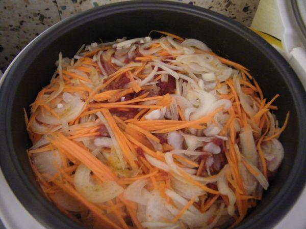 Щука с овощами в МВ