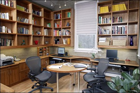 design your home office. if you need some remodeling done to accommodate your home office set up the next step will be demolition remove existing partitions shelving design n