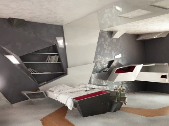 Architecture homes futuristic apartment interior design - Futuristic home interior ...