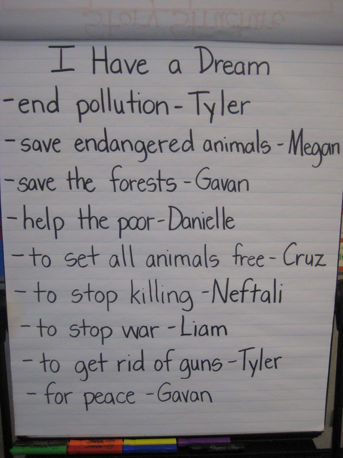 speech writing students i have a dream speech written by students