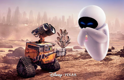 Wall-E handing Eve the plant