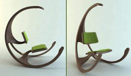 Rocking Wheel Chair by Mathias