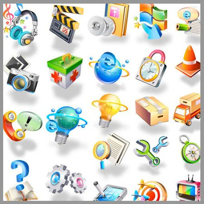 30 vector Icons 3D