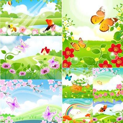 Korea Floral Background