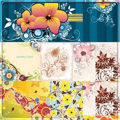 Foral Flower Background vector