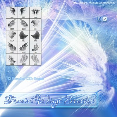 Fractal Wings Brushes by flashtuchka