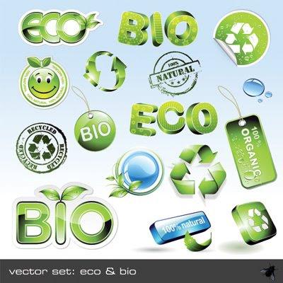 Download Vector Set Eco & Bio