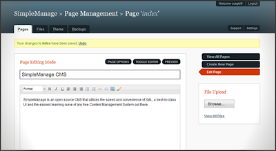 The Simplest Content Management System