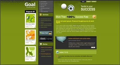 Download Goal CSS Template