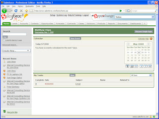 Salesforce.com Screenshot