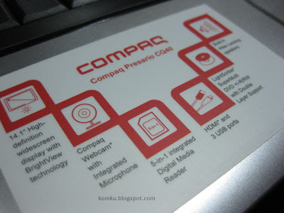 compaq cq40 Specifications