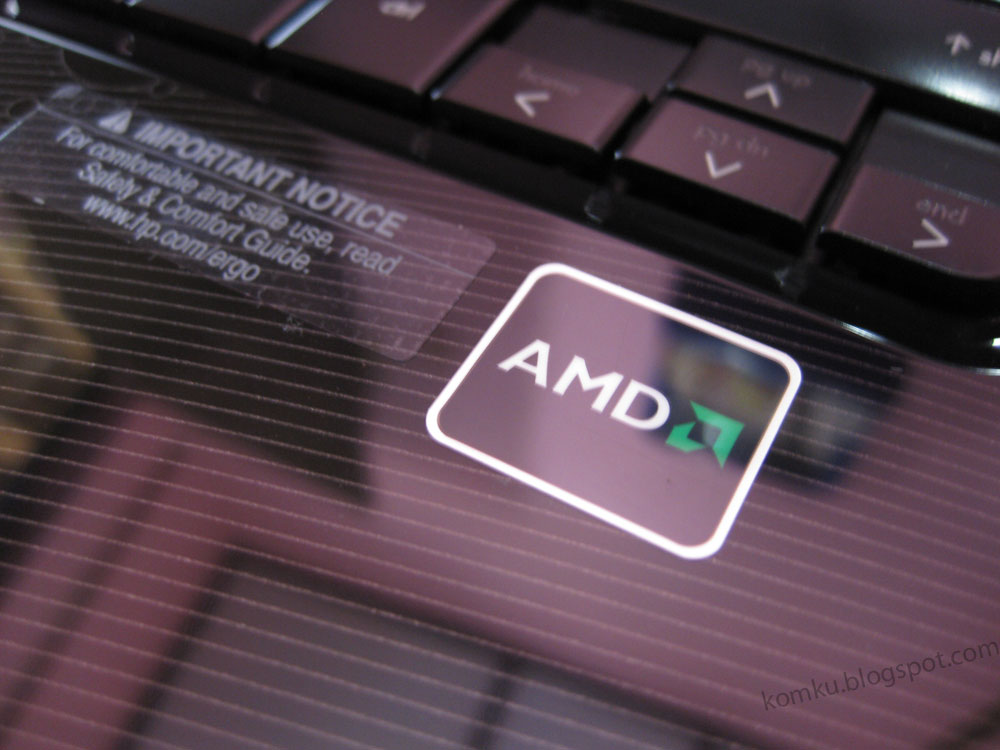 HP Pavilion dv2-1203AU AMD logo on pavilion dv2