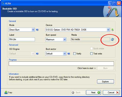 Create a bootable ISO to burn on CD