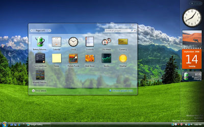 vista sidebar Bikin Sidebar Windows XP Jadi Vista Dengan Vista  Sidebar