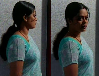 Tamil TV Actress Devipriya sari sideview