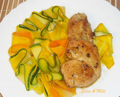 Articole culinare : Friptura de porc cu garnitura din zucchini