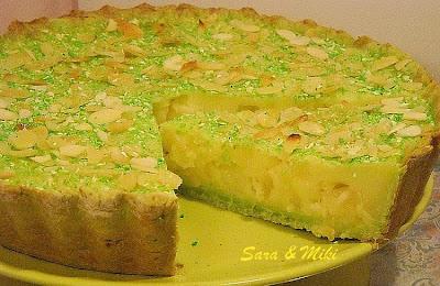 Articole culinare : Tarta cu crema de vanilie si ananas