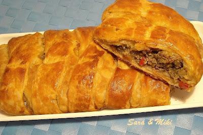 Articole culinare : Impletitura din foietaj cu pasta de sardine