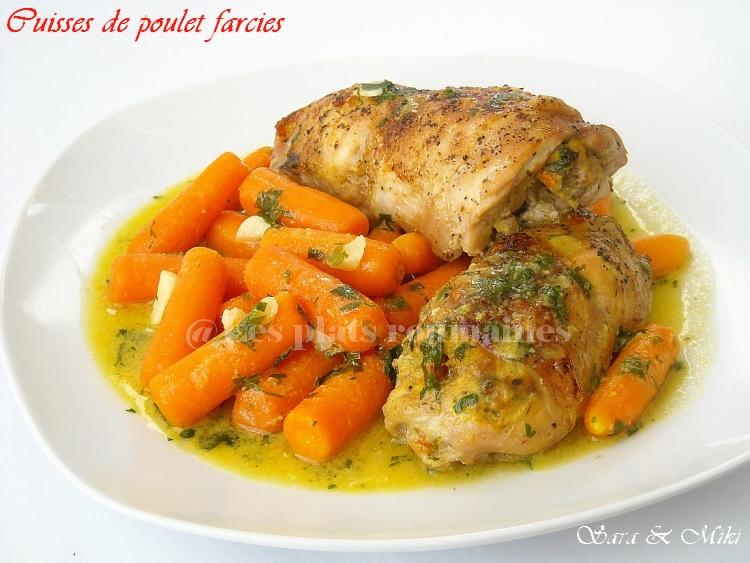Les plats roumaines cuisses de poulet farcies aux - Comment cuisiner les cuisses de poulet ...