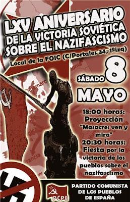 9 de Mayo, La Victoria que salvo al mundo CARTEL+LXV+ANIVERSARIO