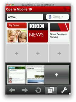 Emulador de Opera Mobile