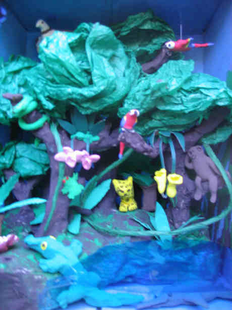 Snake Projects With Shoe Box http://jeaninallhonesty.blogspot.com/2007/12/genesis-of-rainforest.html