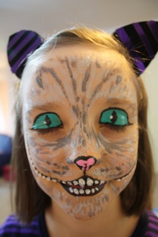 in all honesty: face painting the Cheshire Cat