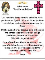 Mi Novena Oración de la Rosa Santa Teresita
