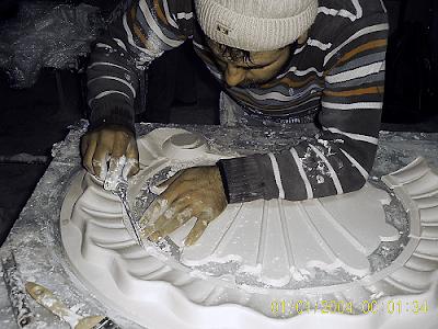 kalipimalati Motifli polyester alçı kalıbı Projeli uygulama