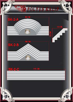 spotlu kartonpiyer kaliplari 2 Silikon alçı kalıpları kemer alçı kalıbı